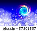 雪の結晶とクリスマスイメージ 57801567