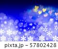 雪の結晶とクリスマスイメージ 57802428
