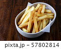 Fried crispy sweet potato, delicious french fries 57802814