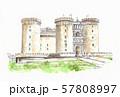 ヨーロッパの街並み・ナポリ・ヌオーボ城 57808997