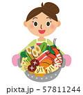 お鍋を持つ母 57811244