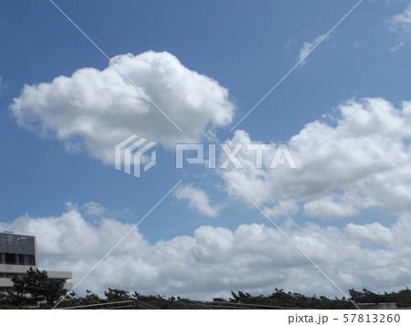 九月の青空と白い雲 57813260