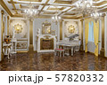 3d rendering of the hall in classical style 57820332
