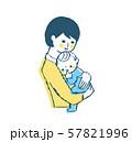 赤ちゃんを抱っこするママ 57821996