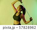 女性 スポーツ アスリート  57828962