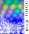 雪の結晶とクリスマスイメージ 57868239