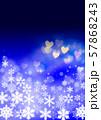 雪の結晶とクリスマスイメージ 57868243