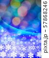 雪の結晶とクリスマスイメージ 57868246