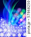 雪の結晶とクリスマスイメージ 57868250