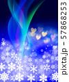 雪の結晶とクリスマスイメージ 57868253
