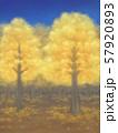 紅葉の木々・黄金・星空 57920893