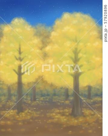 紅葉の木々・黄色・星空 57920896