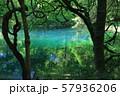 鳥海山から湧き出る湧水で満たされた丸池 57936206