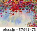 Landscape painting imagination colorful of roses. 57941473
