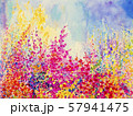 Original landscape painting of flowers. 57941475
