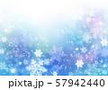 ブルーカラフル雪柄 57942440