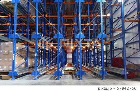 kattlove racks in the modern warehouse 57942756