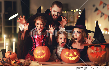 happy family mother father and children in 57945333