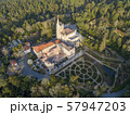 Aerial view on palace of Bussaco 57947203