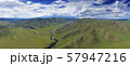 Aerial landscape in Orkhon valley, Mongolia 57947216