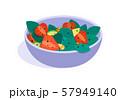 Fruits salad. flat Vector illustration. Concept of healthy eating 57949140