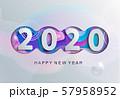 2020 new year modern greeting card . 57958952