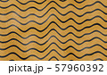 Abstract yellow color wave pattern with black lines. 3d illustration 57960392