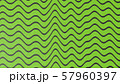 Abstract green color wave pattern with black lines. 3d illustration 57960397
