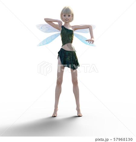 可愛い妖精 perming3DCG イラスト素材 57968130