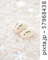 雪うさぎ(雪の結晶) 57968438