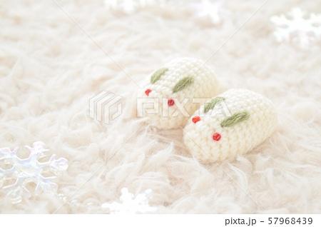 雪うさぎ(雪の結晶) 57968439