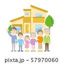 三世代家族と住宅イメージ 57970060