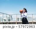 女子中高生 バスケ 57972963