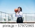 女子中高生 バスケ 57972965