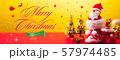 クリスマスバナー 57974485