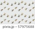 背景 パターン 飛ぶ鳥 シルエット  金箔散し 57975688