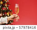 クリスマスツリー シャンパン クリスマスカラー 57978416
