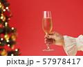 クリスマスツリー シャンパン クリスマスカラー 57978417