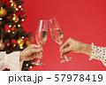 クリスマスツリー シャンパン クリスマスカラー 57978419