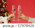 クリスマスツリー シャンパン クリスマスカラー 57978420