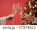 クリスマスツリー シャンパン クリスマスカラー 57978421