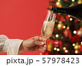 クリスマスツリー シャンパン クリスマスカラー 57978423