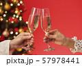 クリスマスツリー シャンパン クリスマスカラー 57978441
