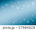 ブルーの星柄背景 57984828