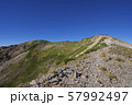 白馬鑓ヶ岳から白馬鑓温泉への登山道(白馬連峰、長野県北安曇) 57992497