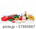 スーパー 買い物 野菜 生鮮食品 食料品 57993667