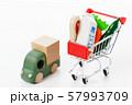 スーパー 買い物 野菜 生鮮食品 食料品 57993709