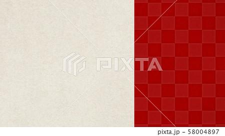 背景-和-和風-和柄-和紙-赤-市松模様 58004897