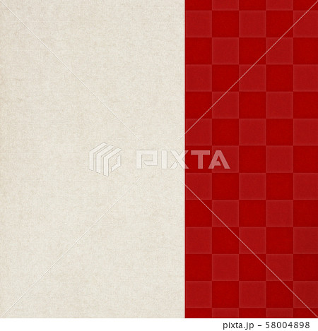 背景-和-和風-和柄-和紙-赤-市松模様 58004898