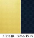 背景-和-和風-和柄-和紙-金箔-紺-市松模様 58004915